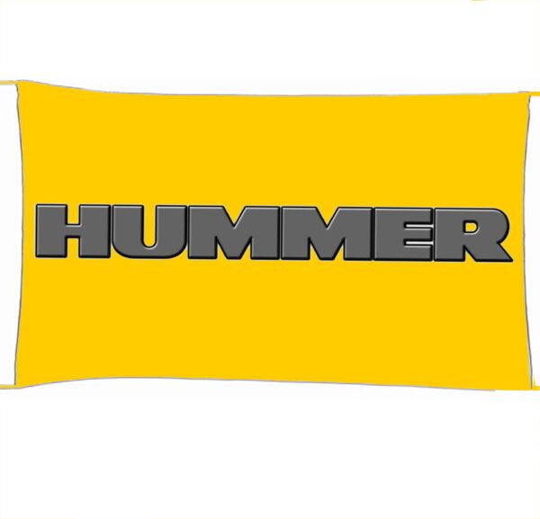 Flag  Hummer 3D Yellow Landscape Flag / Banner 5 X 3 Ft (150 X 90 Cm) Automotive Flags