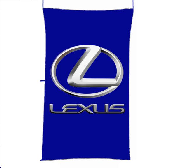 Flag  Lexus 3D Blue Vertical Flag / Banner 5 X 3 Ft (150 X 90 Cm) Automotive Flags