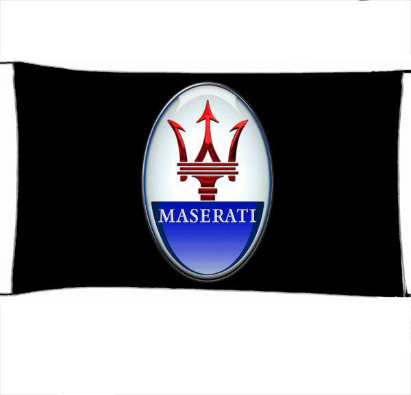 Flag  Maserati 3D Black Landscape Flag / Banner 5 X 3 Ft (150 X 90 Cm) Automotive Flags