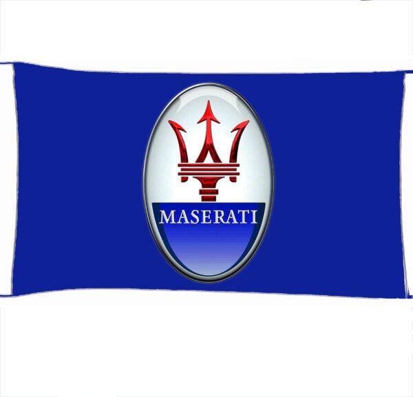 Flag  Maserati 3D Blue Landscape Flag / Banner 5 X 3 Ft (150 X 90 Cm) Automotive Flags
