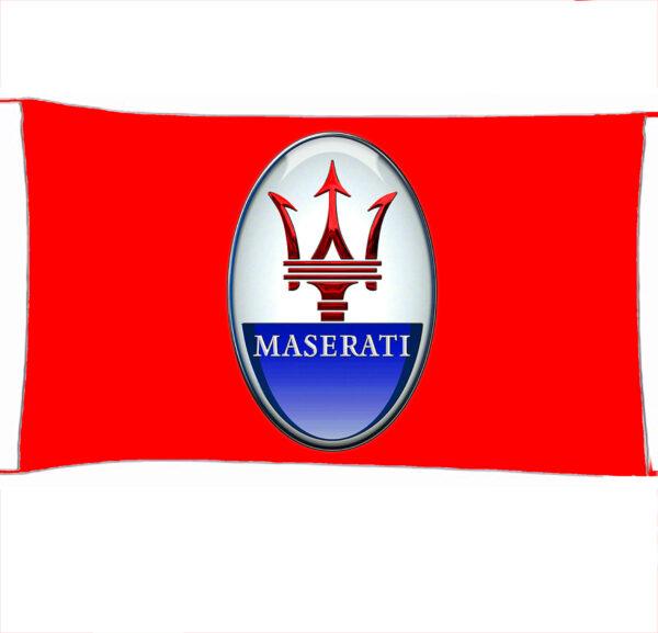 Flag  Maserati 3D Red Landscape Flag / Banner 5 X 3 Ft (150 X 90 Cm) Automotive Flags