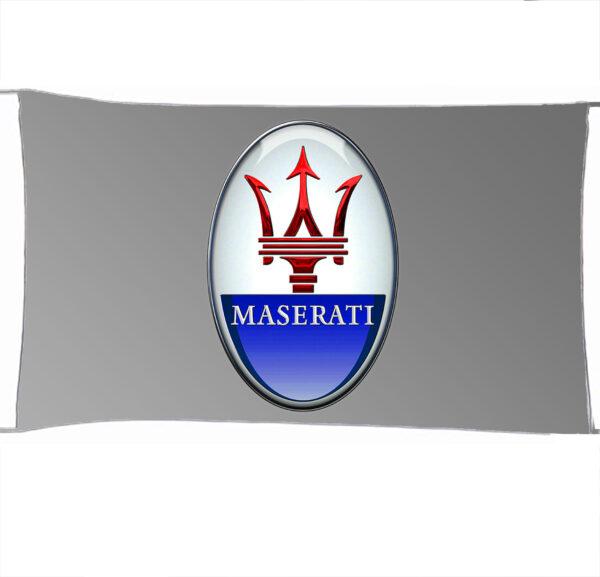 Flag  Maserati 3D Silver Landscape Flag / Banner 5 X 3 Ft (150 X 90 Cm) Automotive Flags