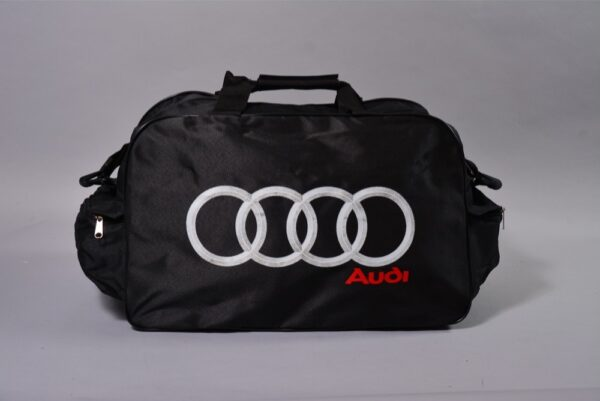 Flag  Audi Black Small Letters Travel / Sports Bag Travel / Sports Bags