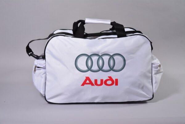 Flag  Audi White Travel / Sports Bag Travel / Sports Bags