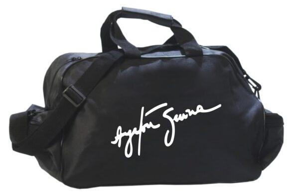 Flag  Ayrton Senna Black Travel / Sports Bag Travel / Sports Bags