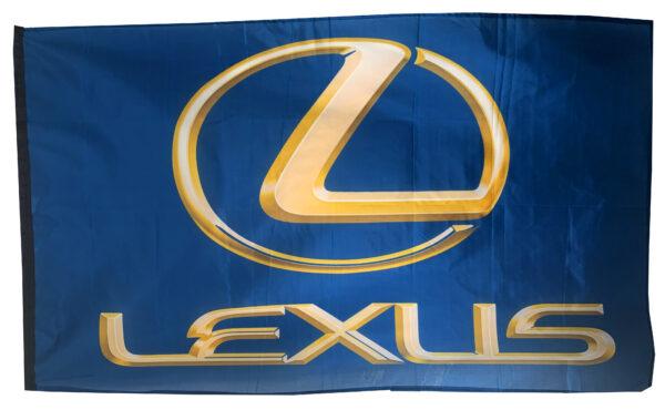 Flag  Lexus 3D Blue Landscape Flag / Banner 5 X 3 Ft (150 X 90 Cm) Automotive Flags