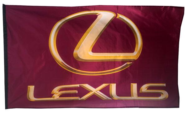 Flag  Lexus 3D Purple Yellow Landscape Flag / Banner 5 X 3 Ft (150 X 90 Cm) Automotive Flags
