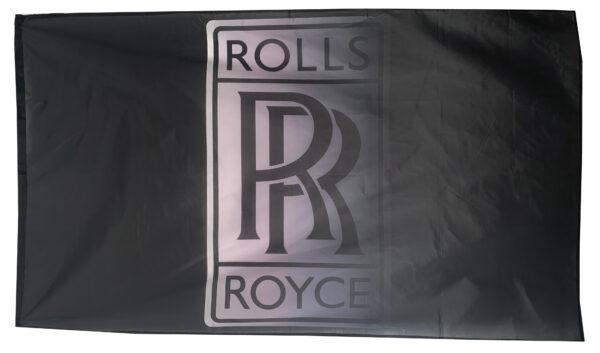 Flag  Rolls Royce Landscape Horizontal Black Flag / Banner 5 X 3 Ft (150 x 90 cm) Automotive Flags
