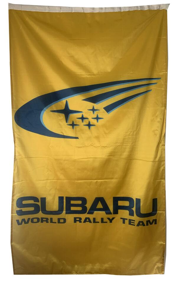 Flag  Subaru Rally Team Vertical Yellow Flag / Banner 5 X 3 Ft (150 x 90 cm) Automotive Flags