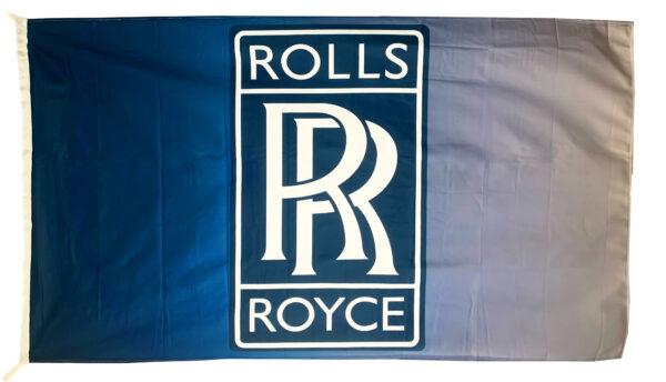Flag  Rolls Royce Landscape Horizontal Blue & White Flag / Banner 5 X 3 Ft (150 x 90 cm) Automotive Flags