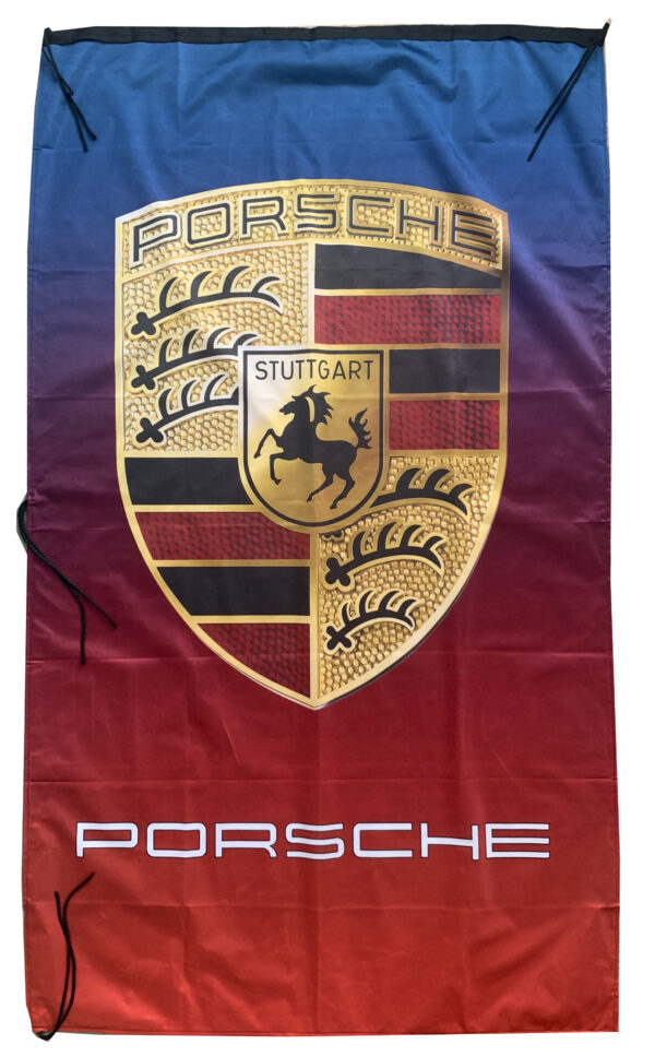Flag  Porsche Vertical Blue & Red Flag / Banner 5 X 3 Ft (150 x 90 cm) Automotive Flags